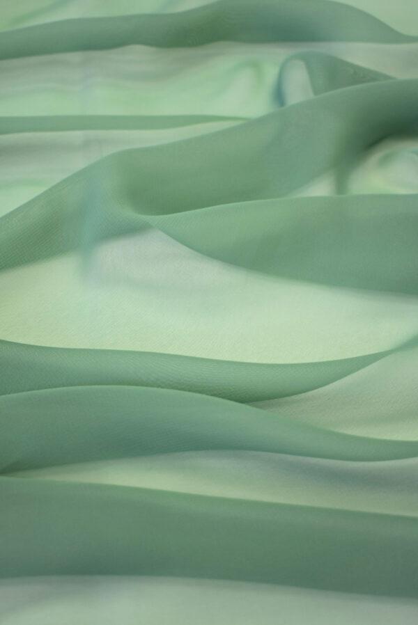 Шифон оттенок темная мята (2036) - Фото 6
