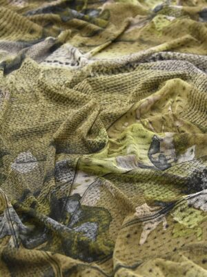 Трикотаж-сетка тонкий летний хаки оливковый (2306) - Фото 11