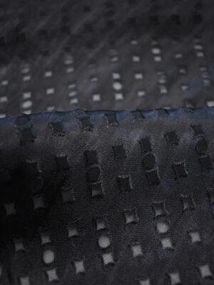 Шелк Деворе черничный в мелкий ромбм (2565) - Фото 15