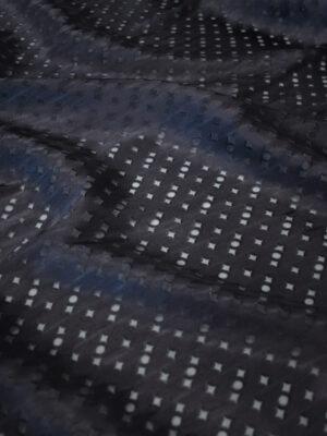 Шелк Деворе черничный в мелкий ромбм (2565) - Фото 14