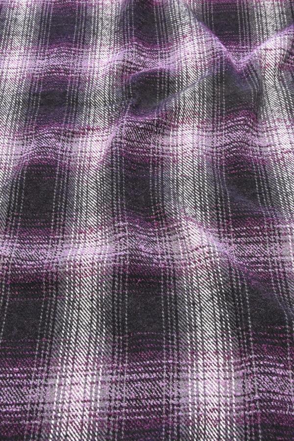 Твид букле шерсть клетка фиолетовый (2672) - Фото 6