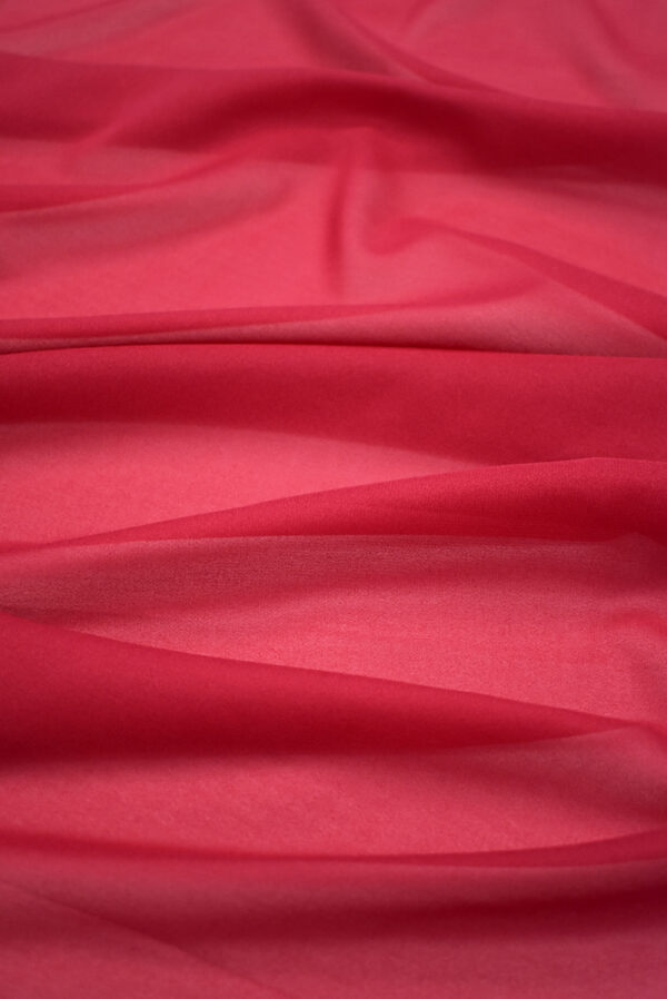 Креп шифон яркий ягодный оттенок (2813) - Фото 6
