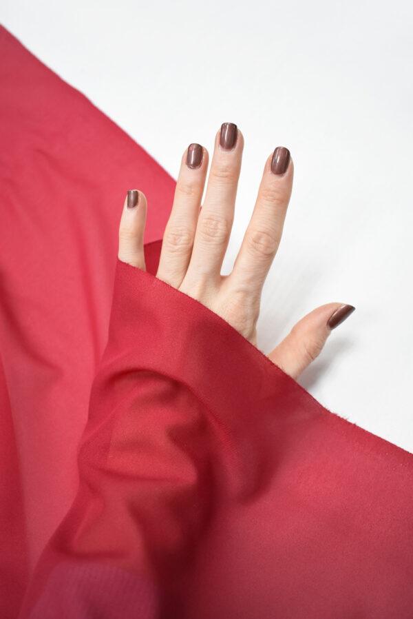 Креп шифон яркий ягодный оттенок (2813) - Фото 9