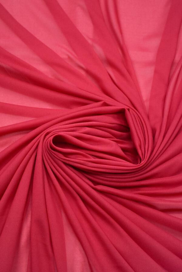 Креп шифон яркий ягодный оттенок (2813) - Фото 8