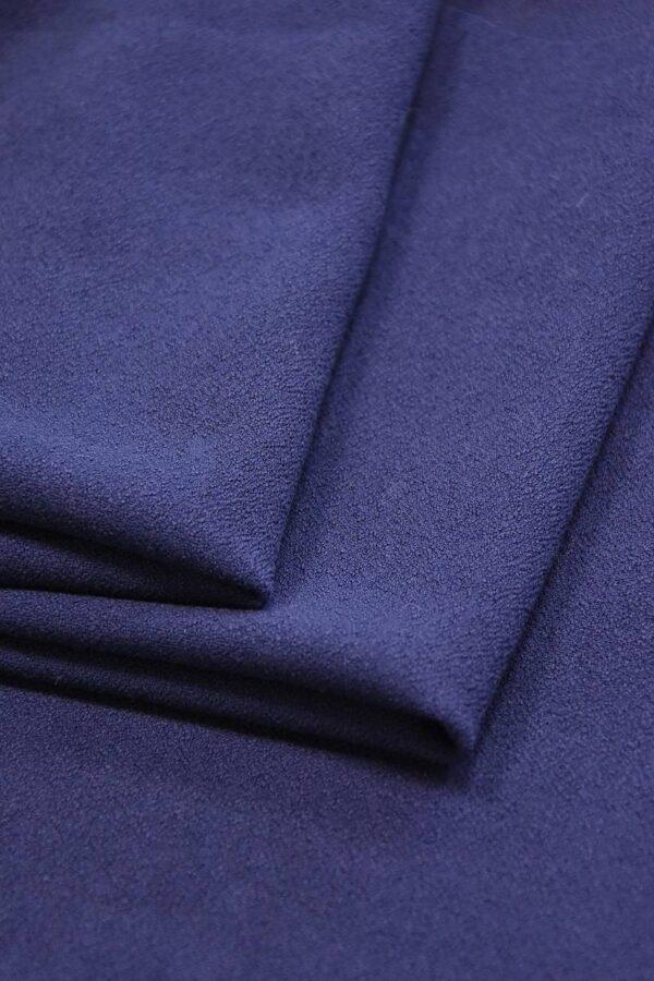 Дабл креп двухсторонний синий (2825) - Фото 8