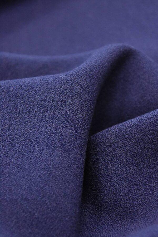 Дабл креп двухсторонний синий (2825) - Фото 9