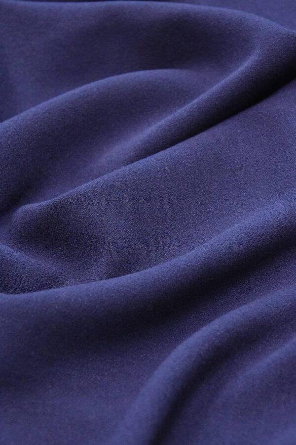 Дабл креп двухсторонний синий (2825) - Фото 6
