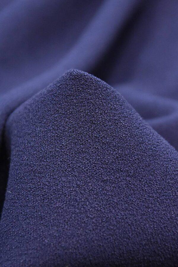 Дабл креп двухсторонний синий (2825) - Фото 7
