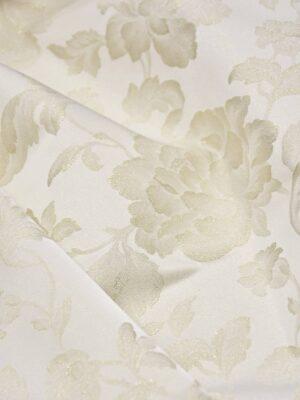 Тафта айвори цветы золотой глиттер (3288) - Фото 21