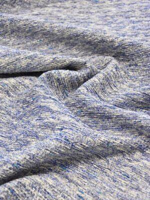 Твид синий меланж серебряная нить люрекса (3787) - Фото 12