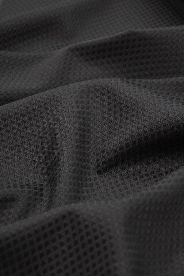 Пике стрейч черный фактура в мелкий ромб (3917) - Фото 7