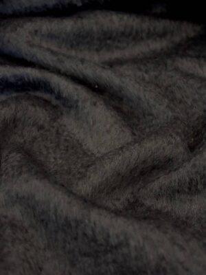 Пальтовая мохер шерсть ворс серый графит (4226) - Фото 16