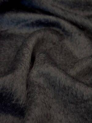 Пальтовая мохер шерсть ворс серый графит (4226) - Фото 15