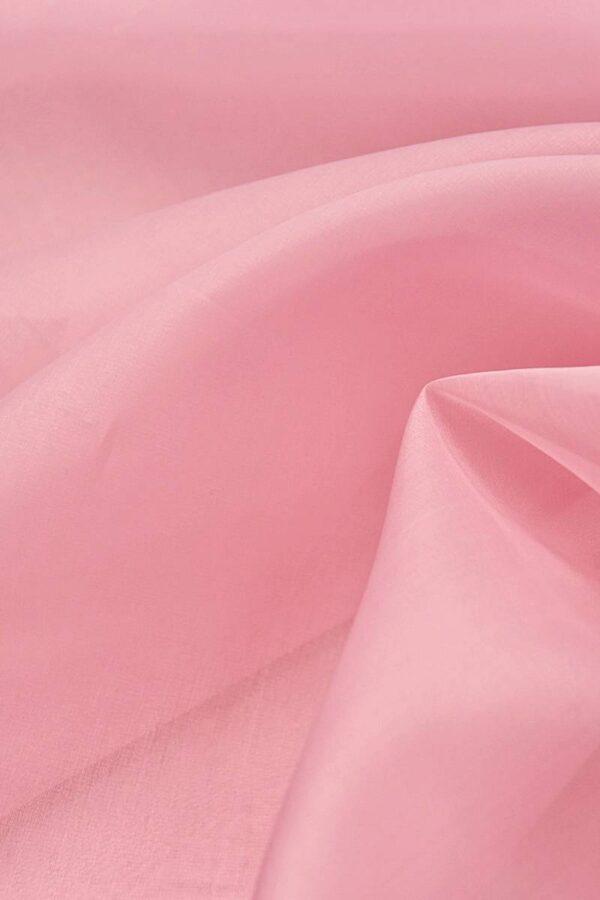 Органза шелк нежно-розовая (4423) - Фото 7