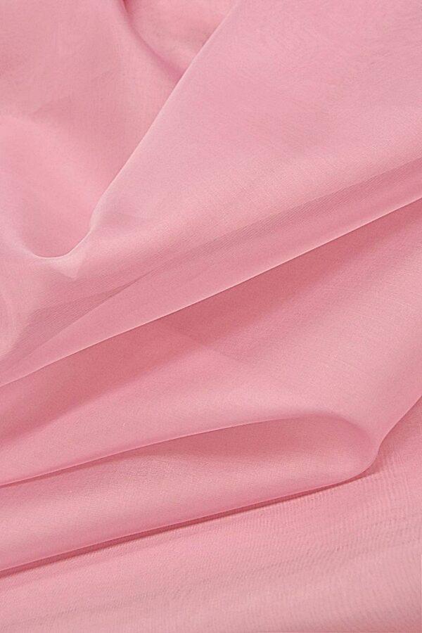 Органза шелк нежно-розовая (4423) - Фото 6