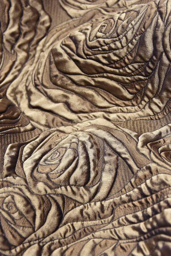 Жаккард 3Д коричневый цветы (4469) - Фото 8