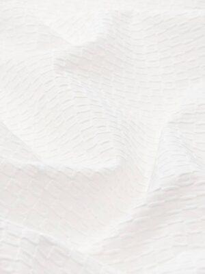 Пике хлопок стрейч фактурный белый (4510) - Фото 16