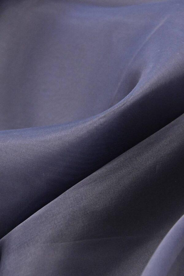 Органза шелк темно-синий  (4539) - Фото 6