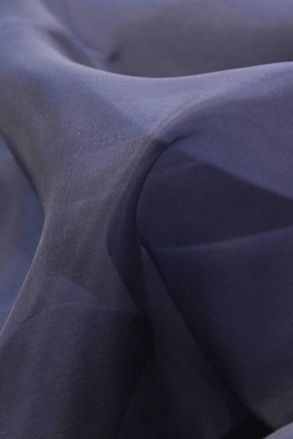 Органза шелк темно-синий  (4539) - Фото 9
