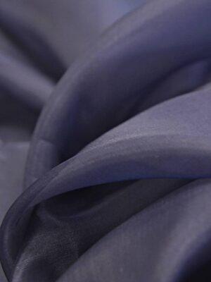 Органза шелк темно-синий  (4539) - Фото 14