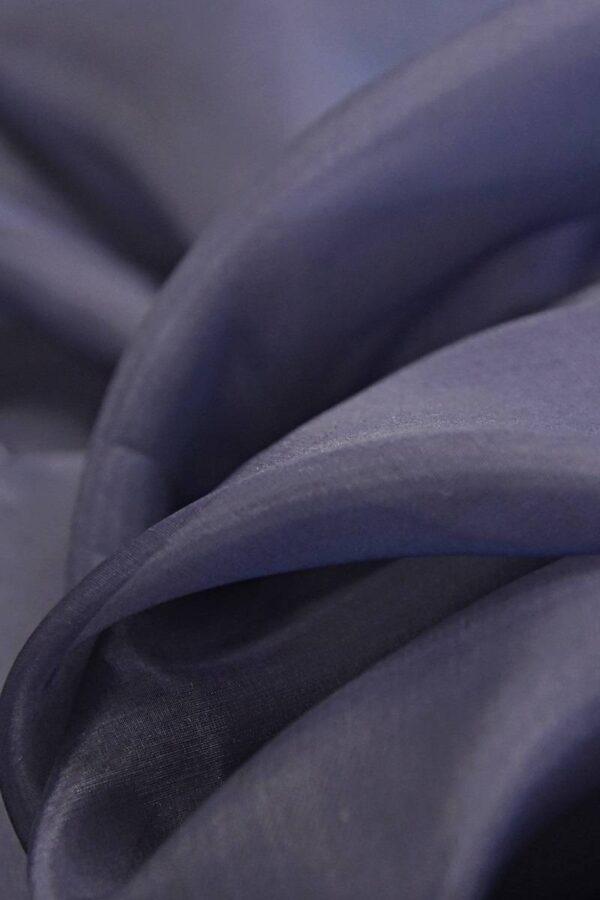 Органза шелк темно-синий  (4539) - Фото 7