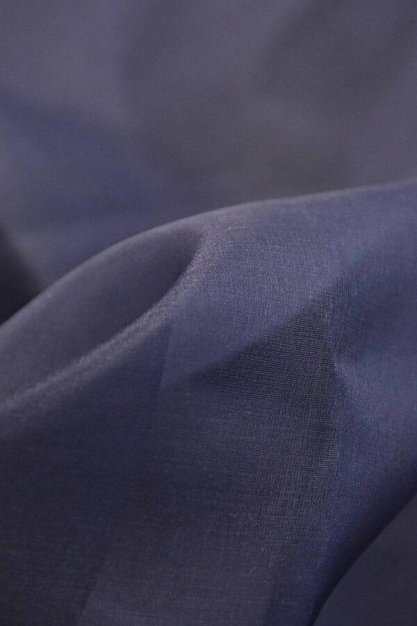 Органза шелк темно-синий  (4539) - Фото 8