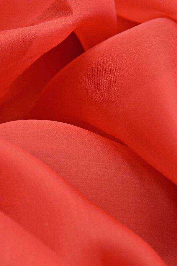 Органза шелковая красная (4543) - Фото 7