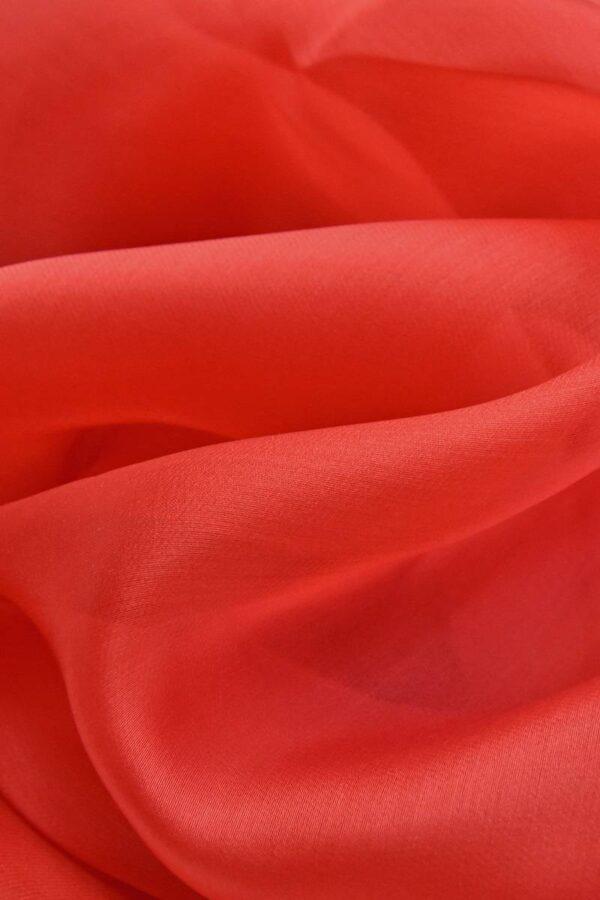 Органза шелковая красная (4543) - Фото 6