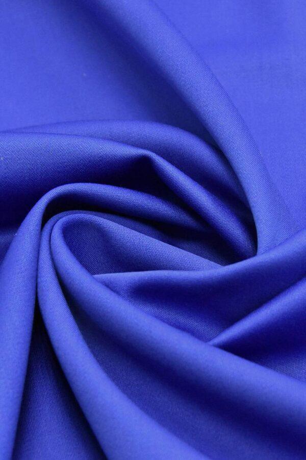 Костюмная шерсть стрейч синий электрик (4614) - Фото 7