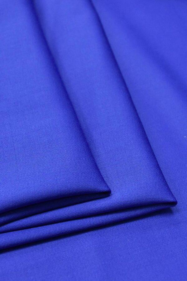 Костюмная шерсть стрейч синий электрик (4614) - Фото 9