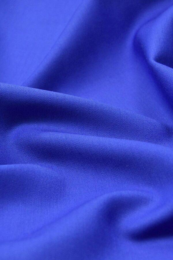 Костюмная шерсть стрейч синий электрик (4614) - Фото 8