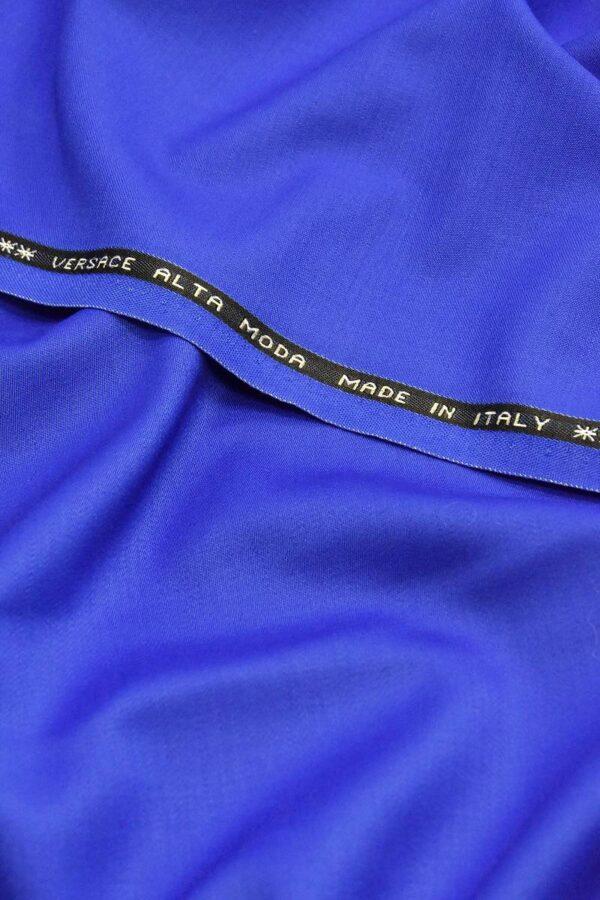 Костюмная шерсть стрейч синий электрик (4614) - Фото 6