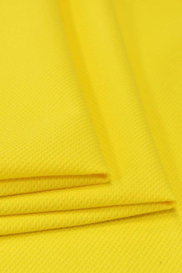 Хлопок пике желтый (4672) - Фото 8