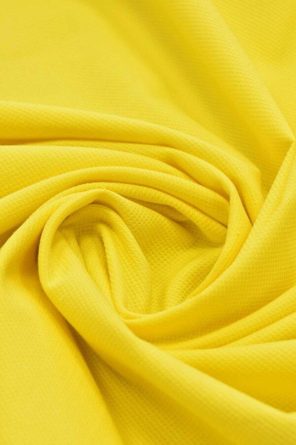 Хлопок пике желтый (4672) - Фото 7