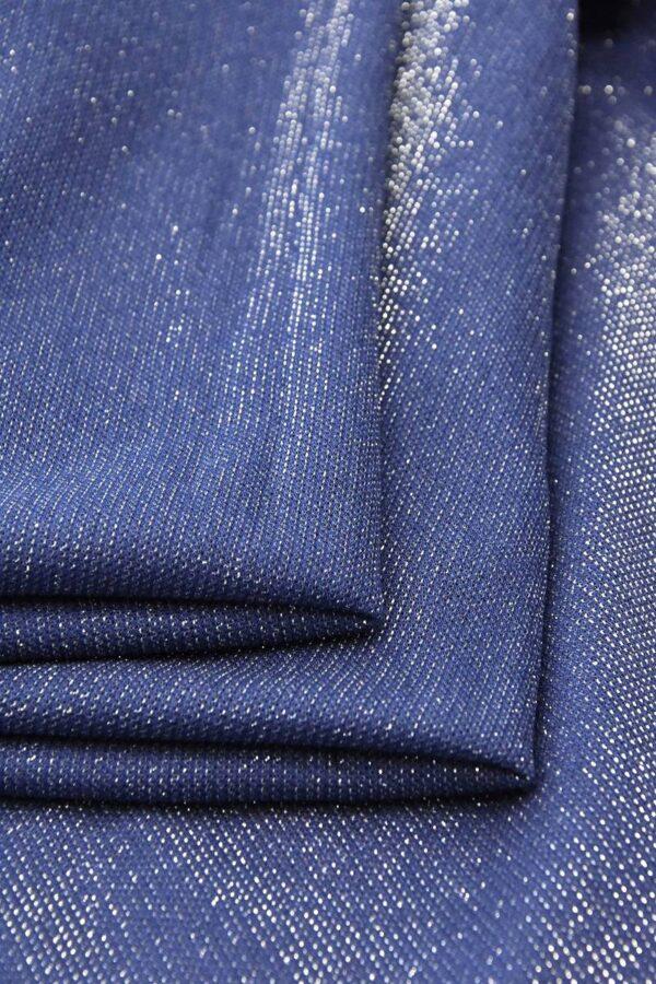 Трикотаж сетка серо-голубой серебряный люрекс (4682) - Фото 8