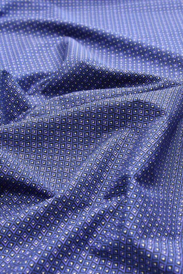 Хлопок рубашечный cиние с белым ромбы (4773) - Фото 6