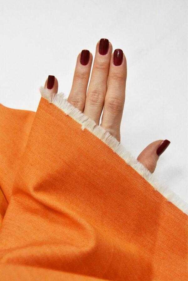 Джинс стрейч хлопок оранжевый (4858) - Фото 10