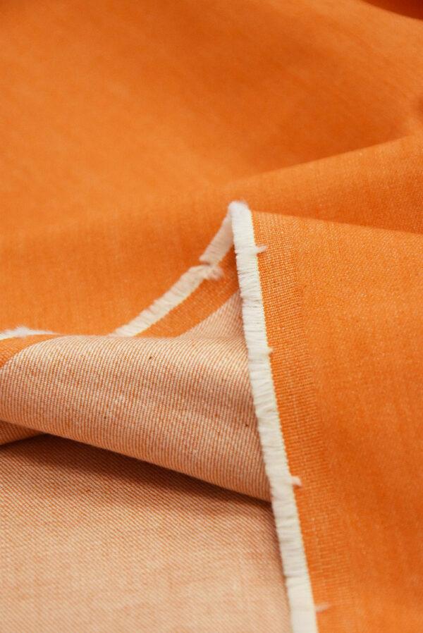 Джинс стрейч хлопок оранжевый (4858) - Фото 8
