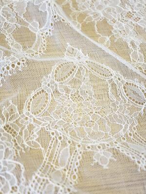 Кружево белое свадебное с цветочным узором (5039) - Фото 13