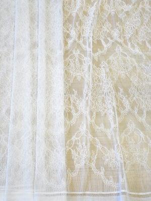 Кружево белое свадебное с цветочным узором (5039) - Фото 12