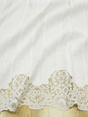 Хлопок белый с эффектом гофре и вышивкой ришелье (5191) - Фото 12
