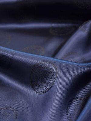 Подкладочная вискоза плотная темно-синяя (5233) - Фото 16