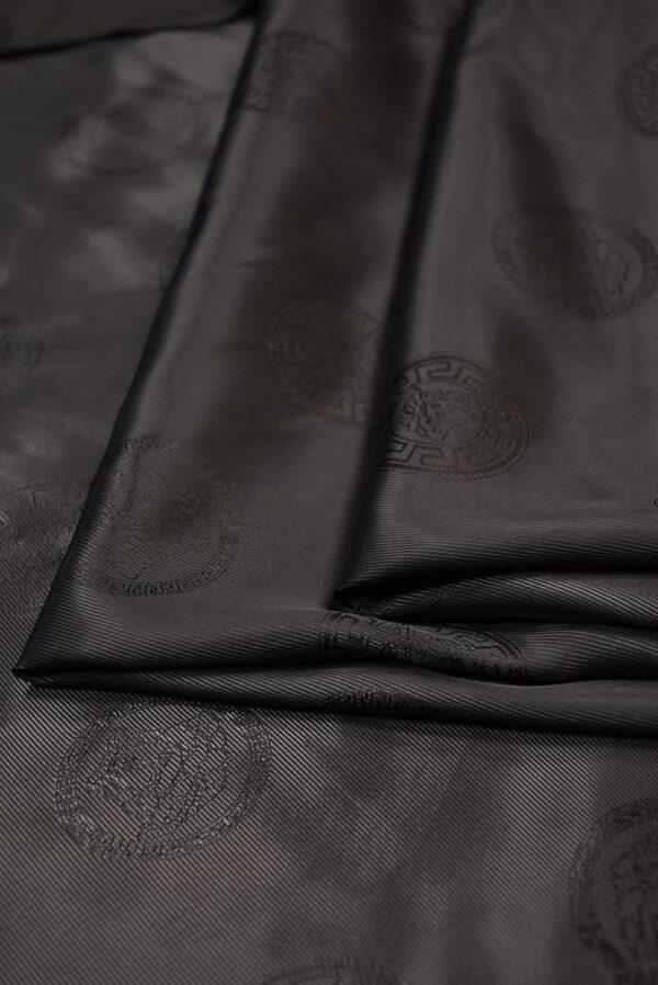 Подкладочная вискоза черного цвета с коричневатым оттенком (5285) - Фото 8