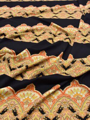 Трикотаж Джерси черный с повторяющейся каймой (5415) - Фото 15