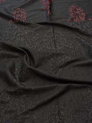 Жаккард с черным узором переходящим в красный (5417) - Фото 11