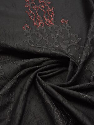 Жаккард с черным узором переходящим в красный (5417) - Фото 12