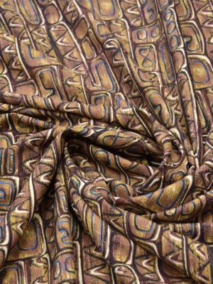 Плательная шерсть африканский орнамент в коричневых тонах (5430) - Фото 29