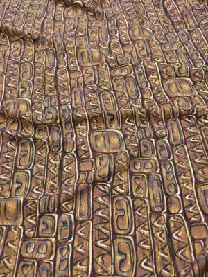Плательная шерсть африканский орнамент в коричневых тонах (5430) - Фото 28