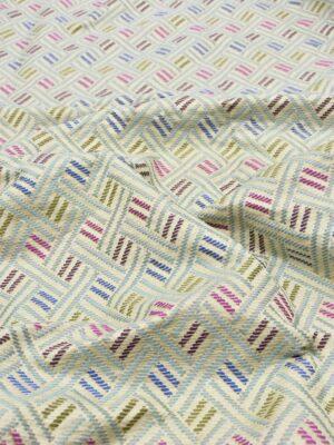 Жаккард с разноцветной геометрией (5538) - Фото 14