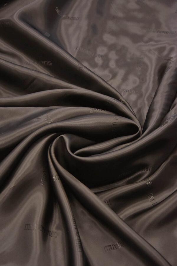Подкладочная вискоза темный шоколад с блеском (5674) - Фото 8